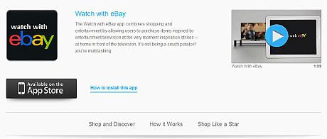 Mit der ebay-App können Nutzer Produkte, die im TV ausgestrahlt werden, erwerben.