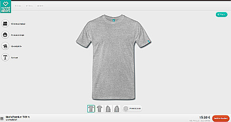 Touch-optimierte T-Shirt-Designer ermöglichen Nutzer das benutzerfreundliche Designen von T-Shirts auf Mobilgeräten.
