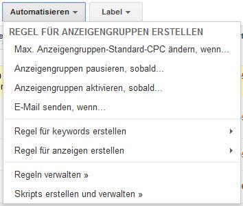 AdWords Anzeigengruppen automatisieren
