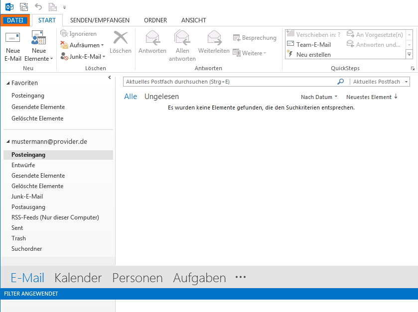 HTML-Signatur in Outlook 2013