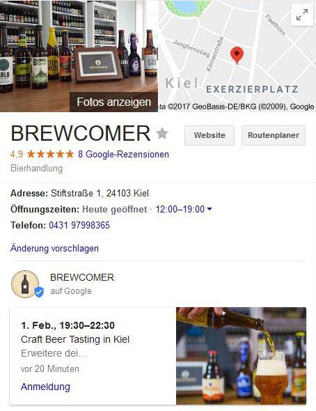 Google My Business für lokale Unternehmen