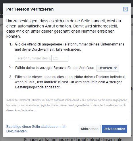 Facebook inoffizielle Seite verifizieren