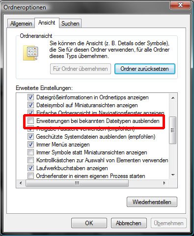 HTML-E-Mail-Signaturen Outlook 2007