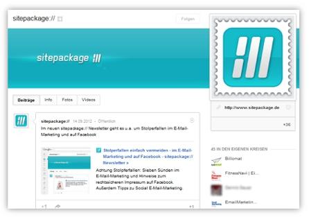 sitepackage:// auf Google+ folgen