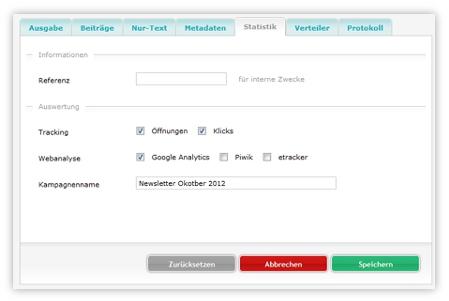 sitepackage:// Newsletter-System mit Webanalyse verknüpfen
