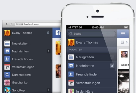 Facebook Newsfeed: Inspiration aus der Mobilversion